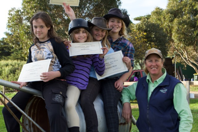 Horsemanship: Basics Term 2, 2015 Graduation Photo