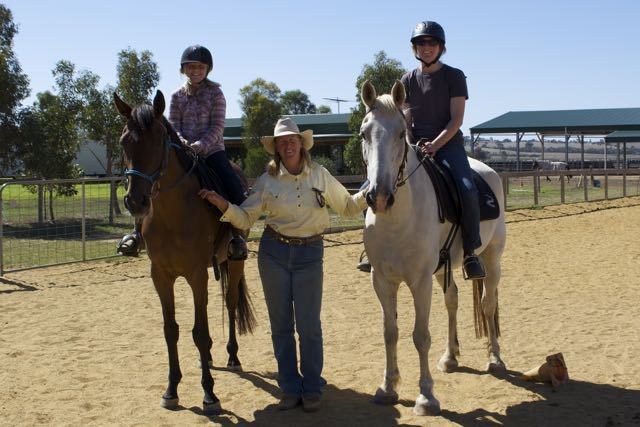 Riding lessons with Kathy