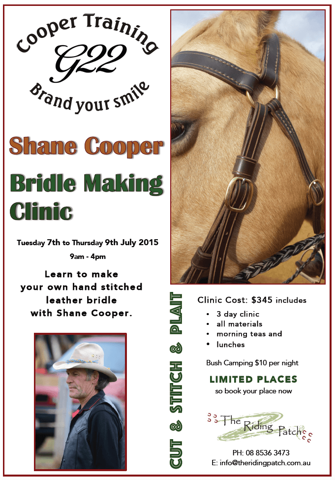Leather Bridle Making clinic July 2015