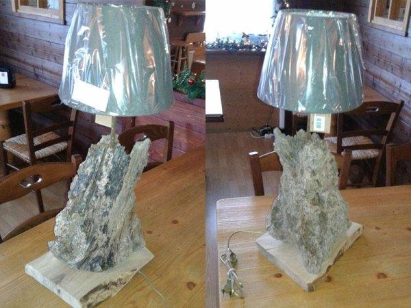Lampade con tronco in legno