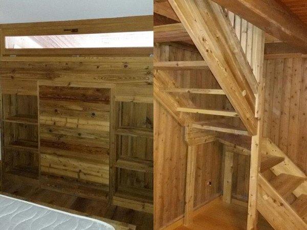 scale e rivestimenti in legno