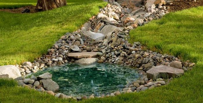 rockys rock walls and landscaping pond