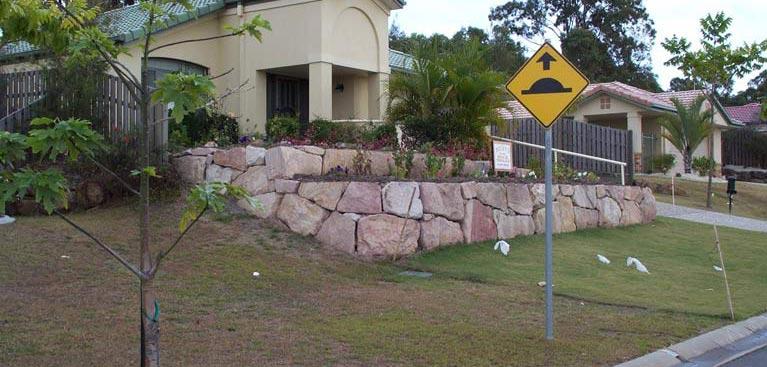 rockys rock walls and landscaping sandstone garden