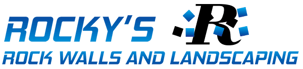 rockys rock walls and landscaping logo