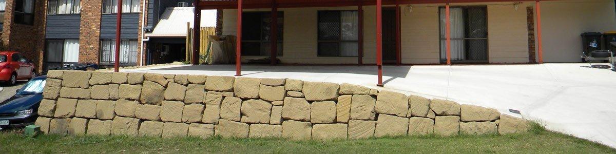Landscaping Boulders Brisbane : Rock boulder wall builder in gold coast