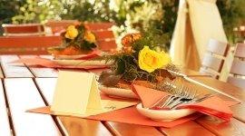 possibilità di cenare in giardino