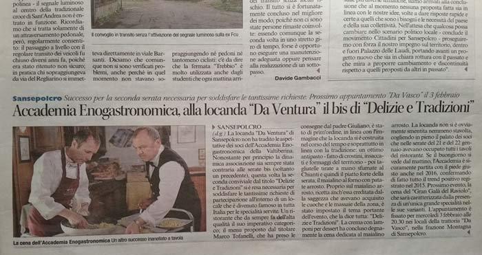 notizia sul giornale