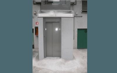 ascensore esterno stile panorama