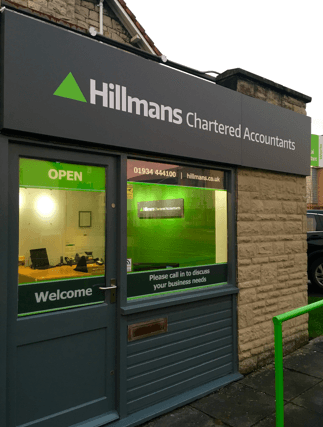 Hillmans Chartered Accountants Weston-super-Mare Shop Front