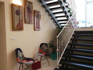 Hotel Eubea salotto e scale
