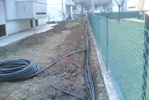Preparazione corsie irrigazione