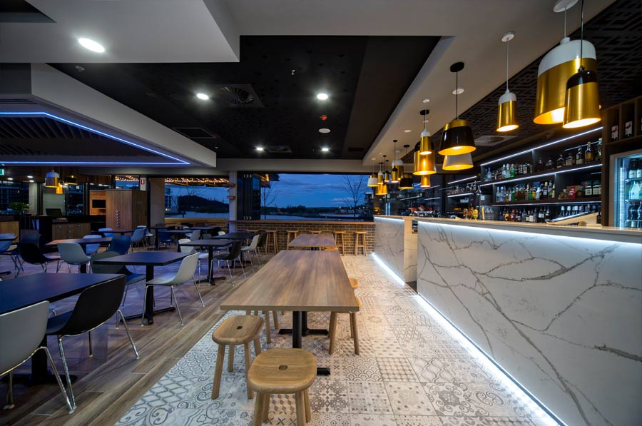 bar with view to outside