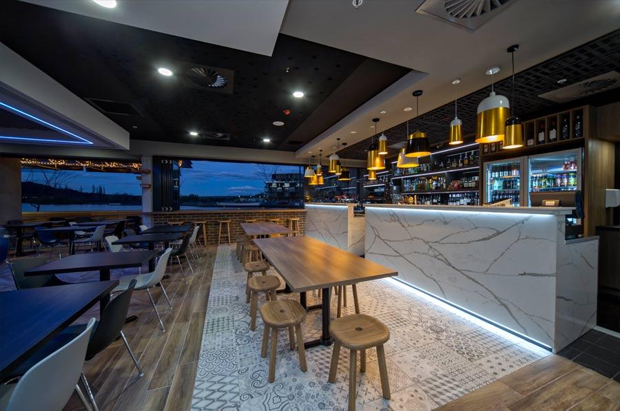 granite bar view