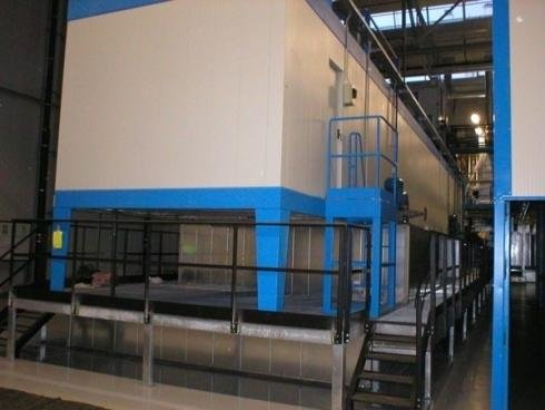 Booths for industrial painting