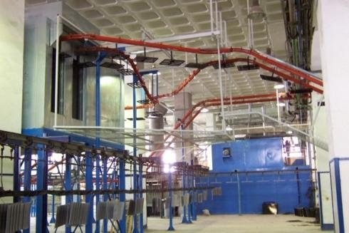 Air product conveyor plant