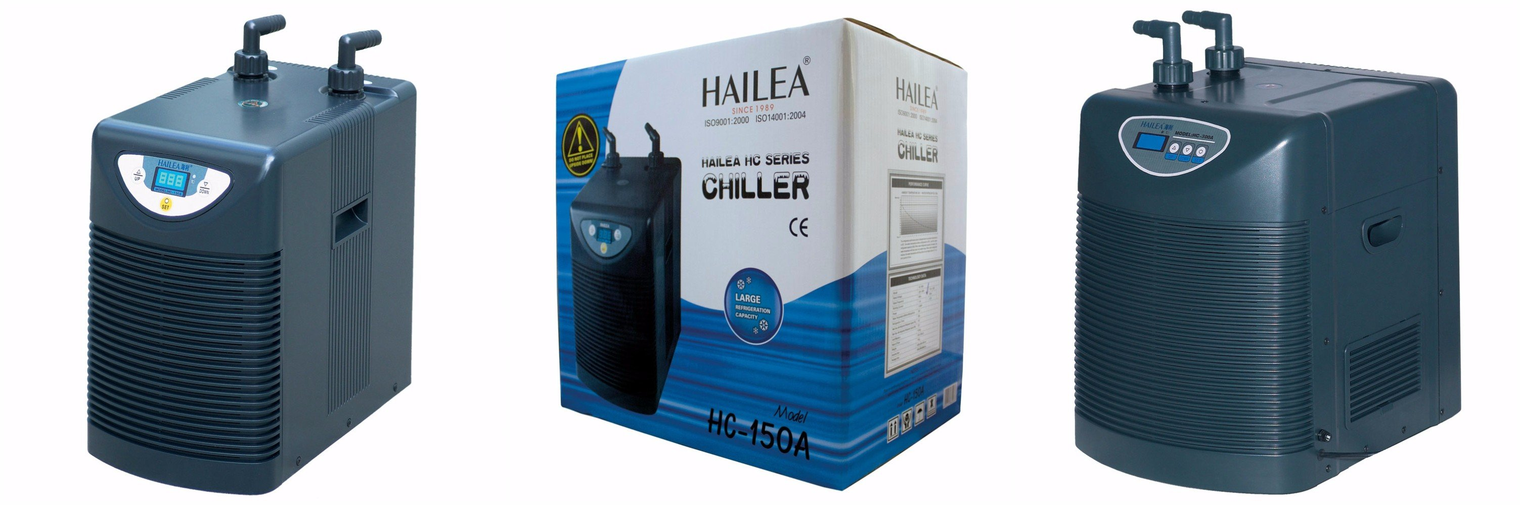 Remove the heat from the water in a hydroponics setup with these water chillers