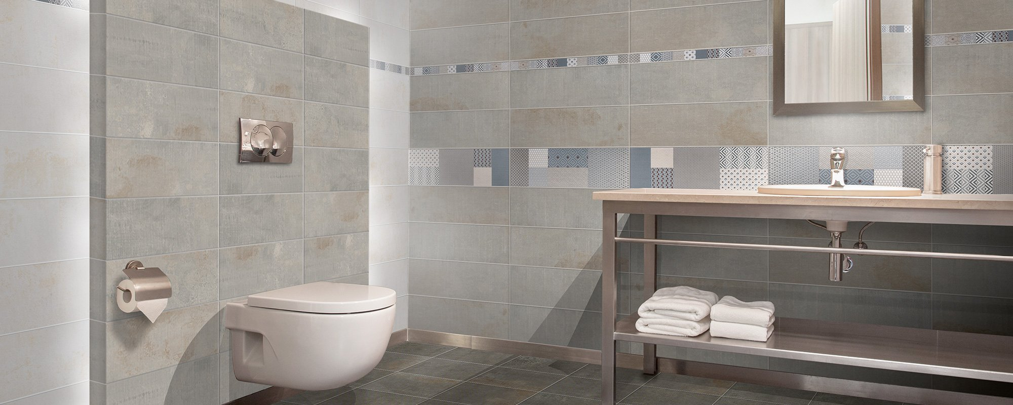 installed bathroom wall and floor tiles - Bathroom Tiles Redditch