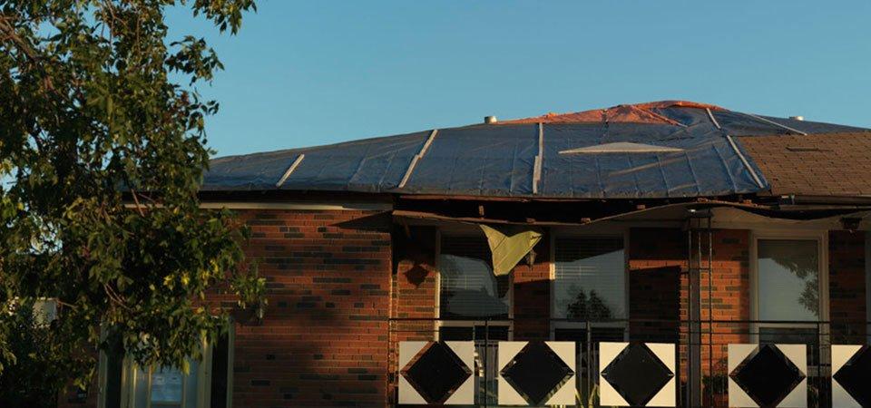 Damaged roof repairs
