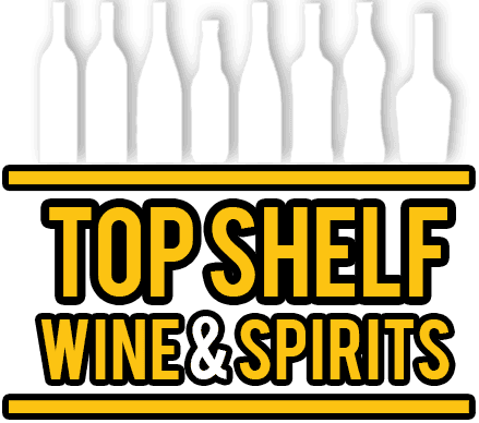 top shelf wine and spirits logo