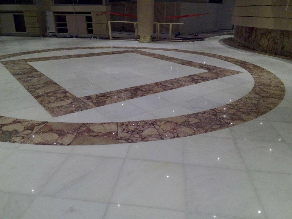 Pavimenti in marmo lucidati