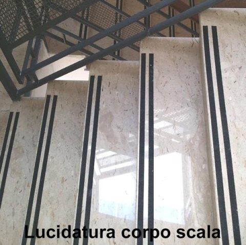 Lucidatura scala in marmo