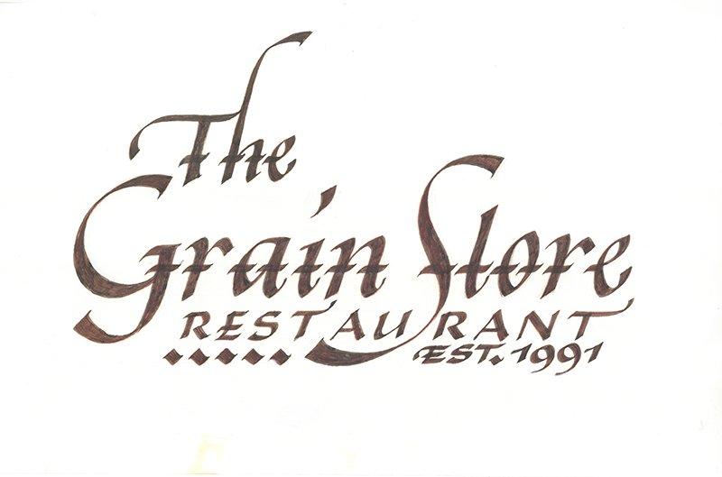 The Grain Store RESTAURANT signboard