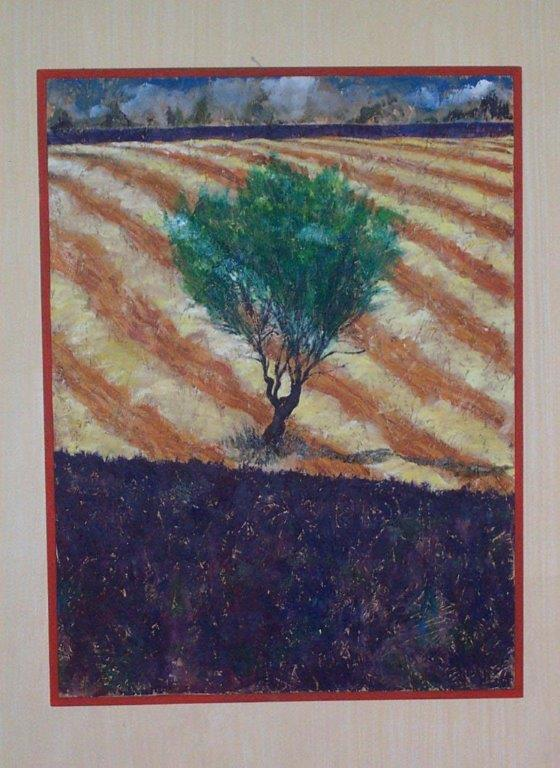 graphic of farm with tree