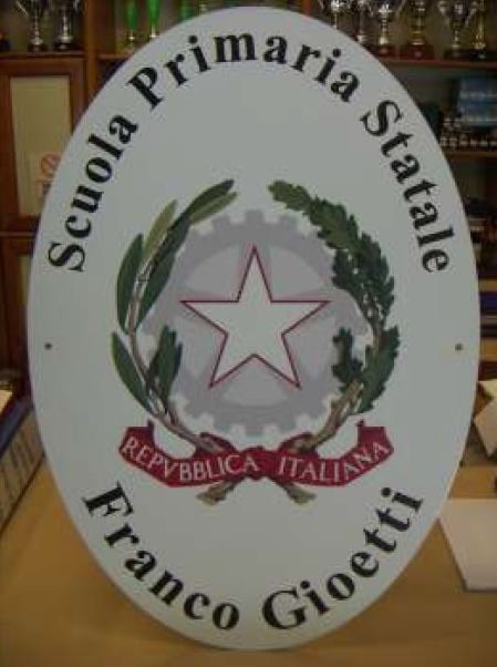 targa ovale per scuola