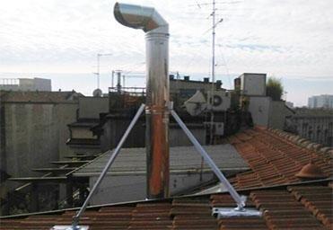 Risanamento canne fumarie con tubazione acciaio
