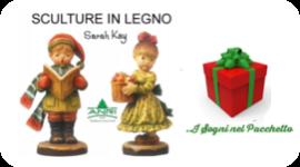 statuette in legno, sculture artigianali tipiche, logo del negozio