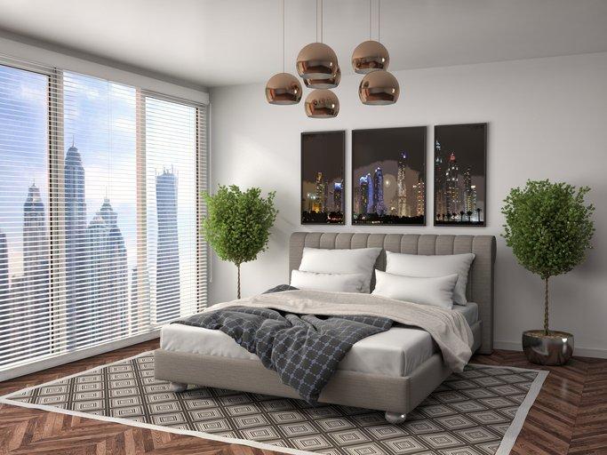 hotel room in city