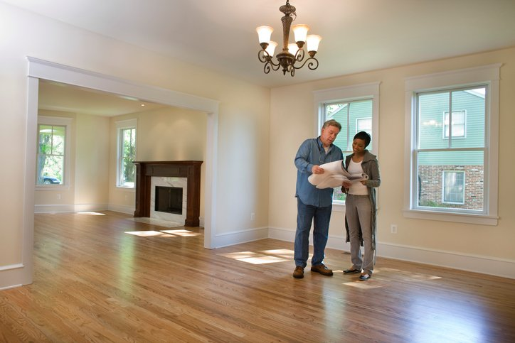 man and woman in newly painted home