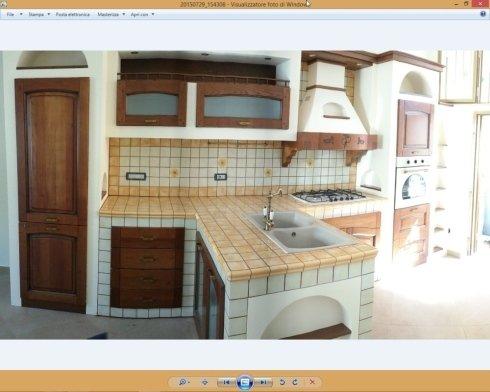 cucina in finta muratura