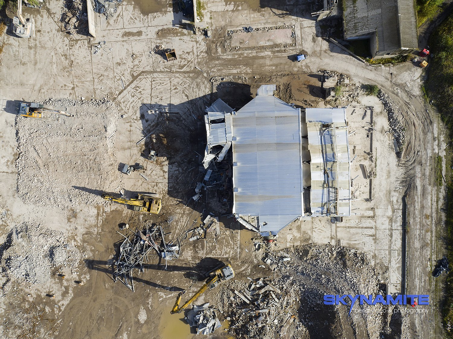 Aerial demolition picture