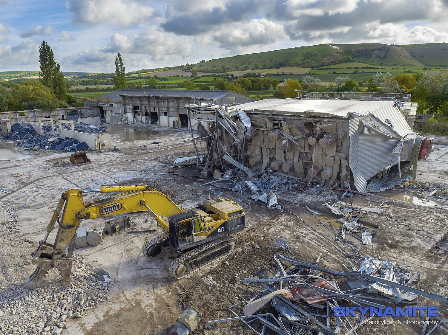 Demolition in Westbury, Wiltshire.