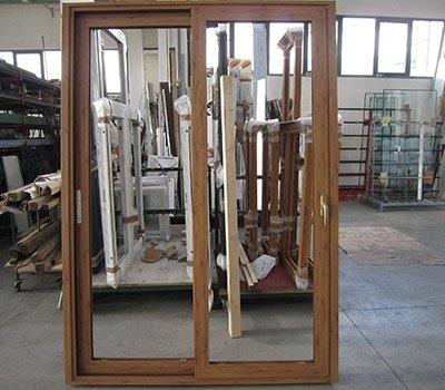 Finestre scorrevoli alluminio legno