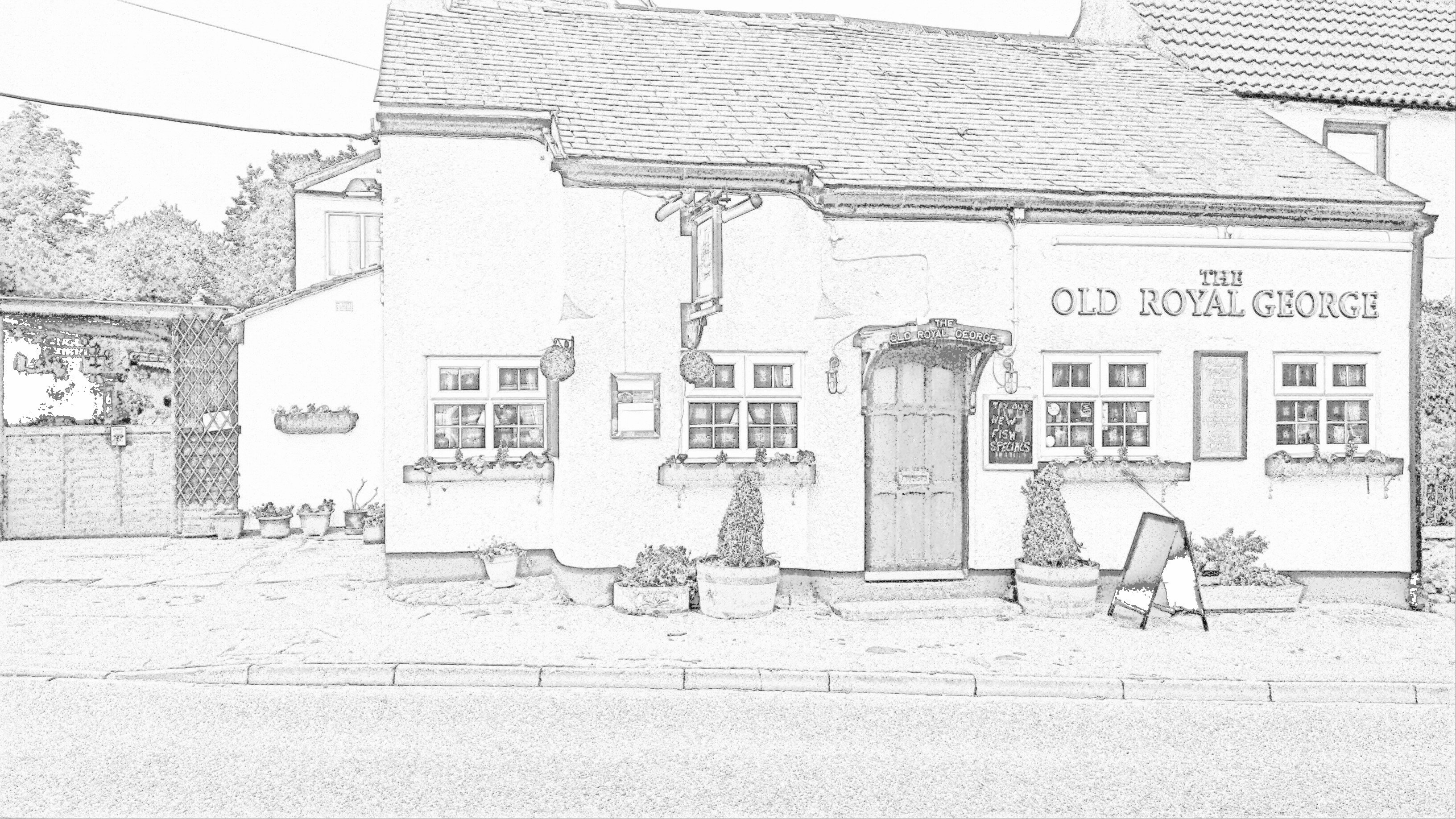 Sketch of Royal George Inn