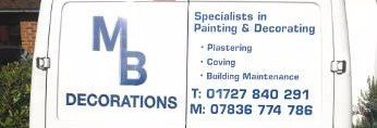 MB Decorations advertisement
