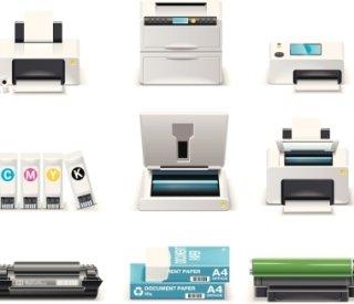 consumabili per personal computer, accessori per stampanti, articoli per ufficio