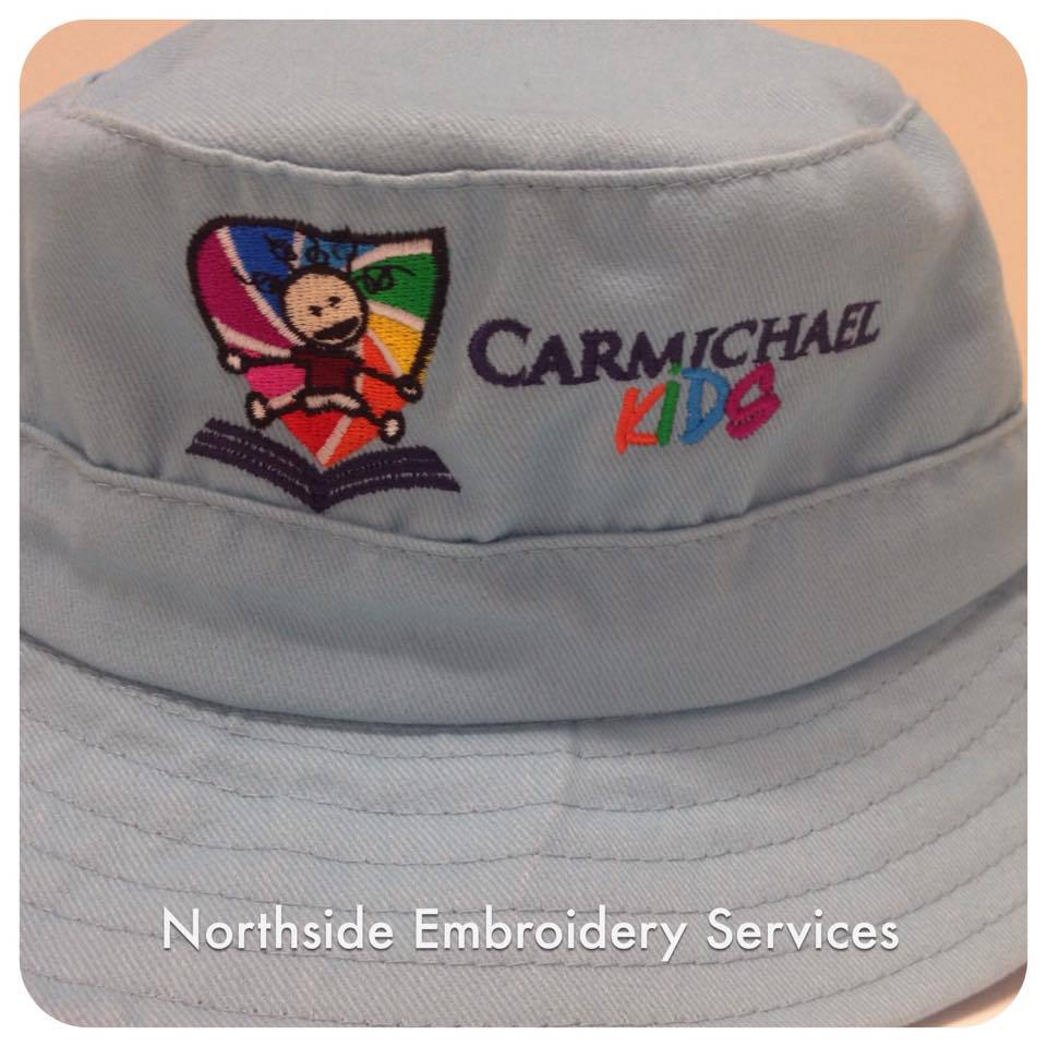 Embroidery done on cap