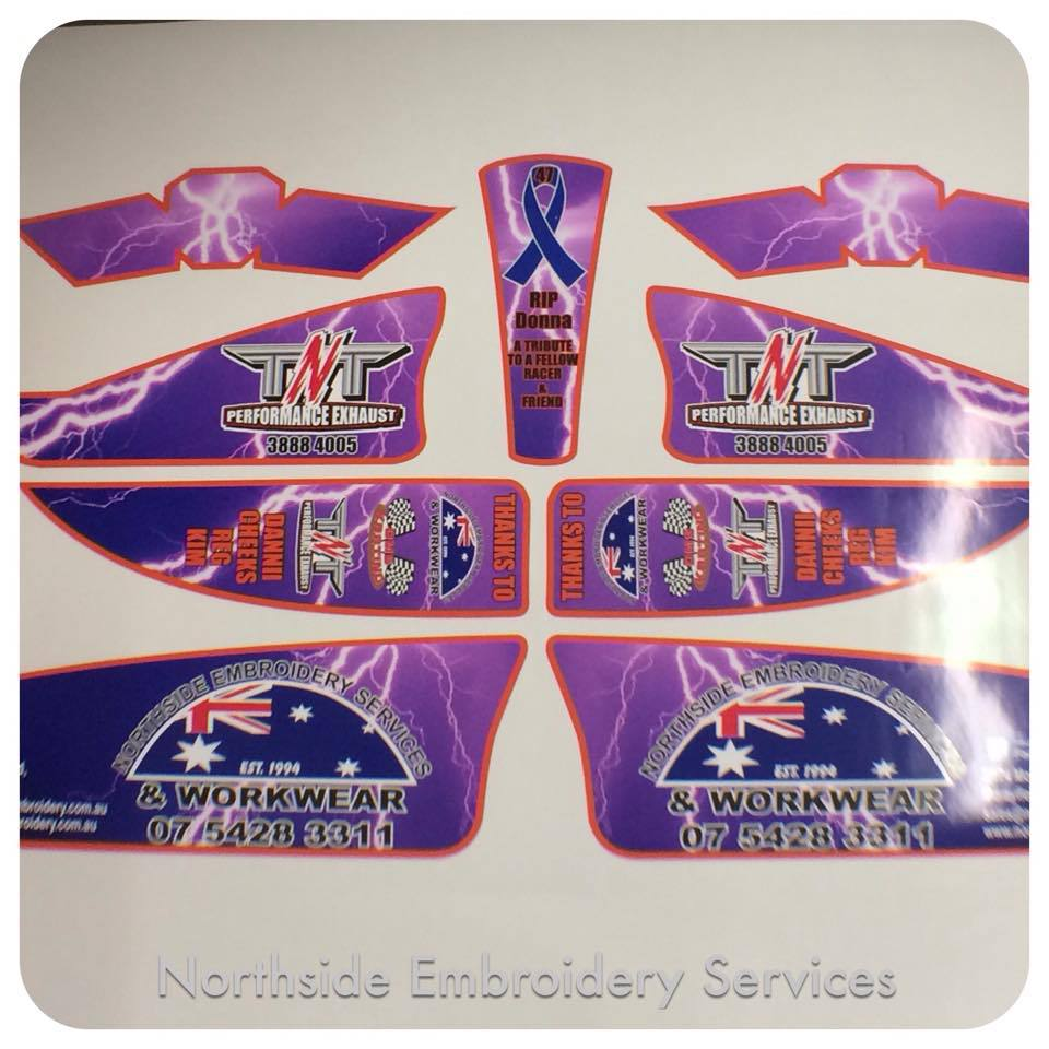Embroidery done on promotional material