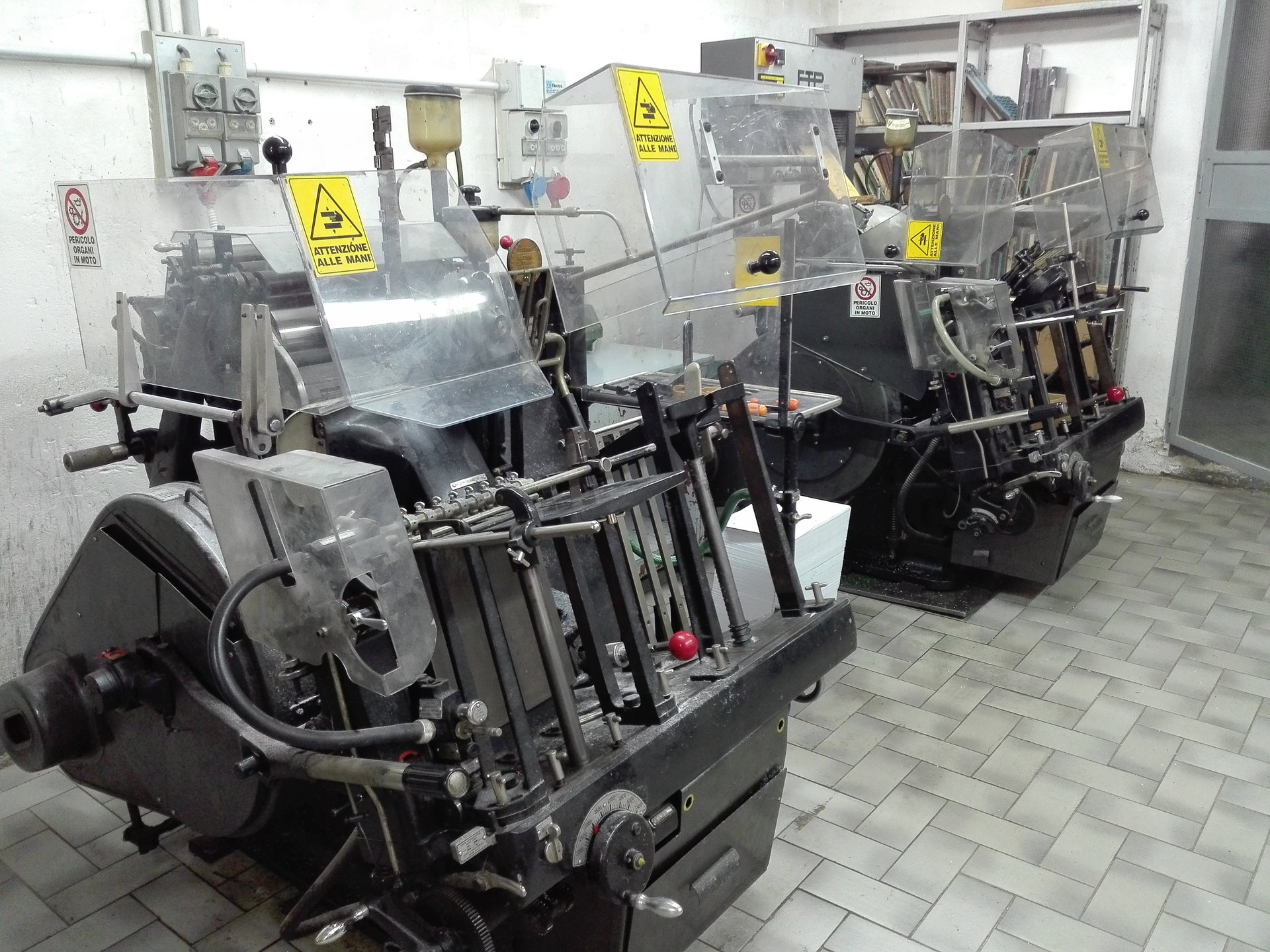 stampanti professionali nel negozio tipografico