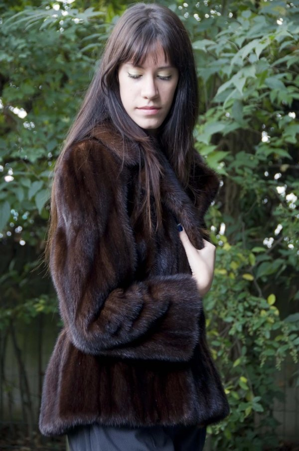 pelliccia giacca corta
