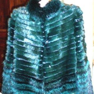 pelliccia visone colorato