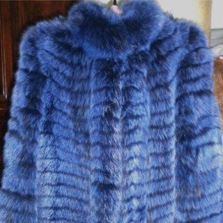 pellicce tinte blu
