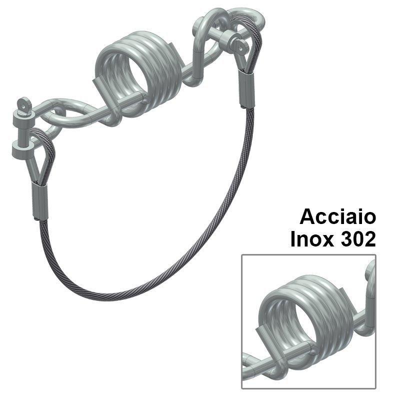 Dissipatore di energia INOX Utile per ridurre i carichi trasferiti alla struttura di supporto