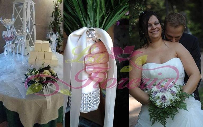 Bouquet con fiori a stelo lungo