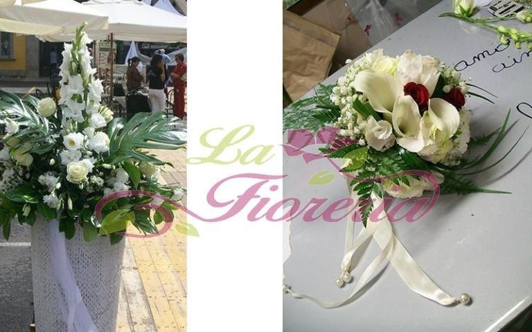 Bouquet da sposa con nastro in raso