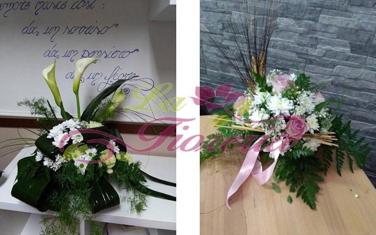 Composizione floreale per matrimonio civile