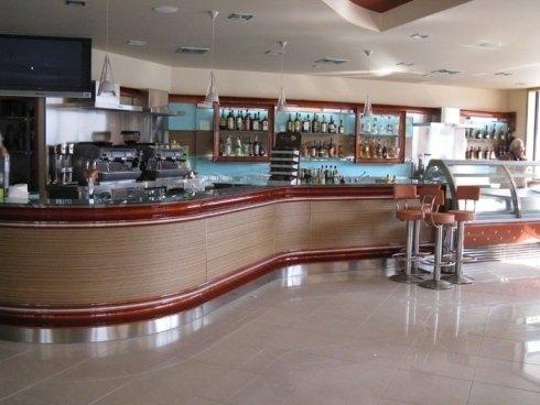 Bancone legno bar
